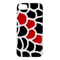 Red, black and white abstraction Apple iPhone 5S/ SE Hardshell Case