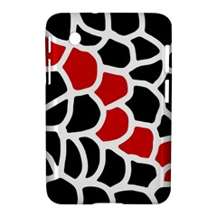 Red, black and white abstraction Samsung Galaxy Tab 2 (7 ) P3100 Hardshell Case