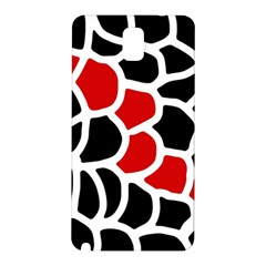 Red, black and white abstraction Samsung Galaxy Note 3 N9005 Hardshell Back Case
