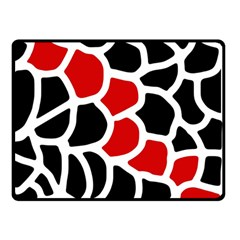 Red, black and white abstraction Double Sided Fleece Blanket (Small)