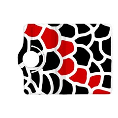 Red, black and white abstraction Kindle Fire HD (2013) Flip 360 Case