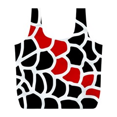 Red, black and white abstraction Full Print Recycle Bags (L)