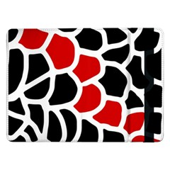 Red, black and white abstraction Samsung Galaxy Tab Pro 12.2  Flip Case