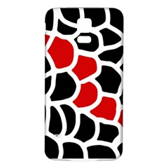 Red, black and white abstraction Samsung Galaxy S5 Back Case (White)