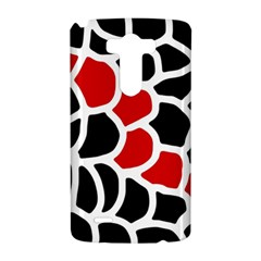 Red, black and white abstraction LG G3 Hardshell Case