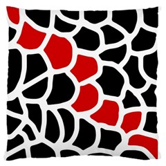 Red, black and white abstraction Standard Flano Cushion Case (One Side)