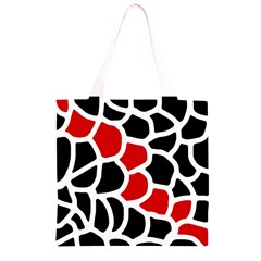 Red, black and white abstraction Grocery Light Tote Bag
