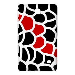Red, black and white abstraction Samsung Galaxy Tab 4 (7 ) Hardshell Case
