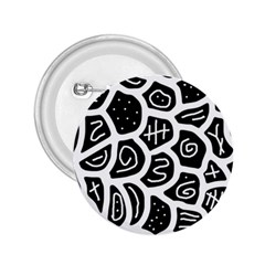 Black and white playful design 2.25  Buttons