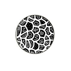 Black and white playful design Hat Clip Ball Marker (10 pack)
