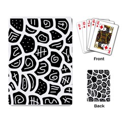 Black and white playful design Playing Card