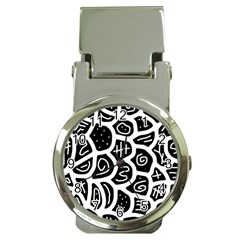 Black and white playful design Money Clip Watches