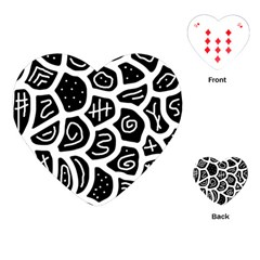 Black and white playful design Playing Cards (Heart)