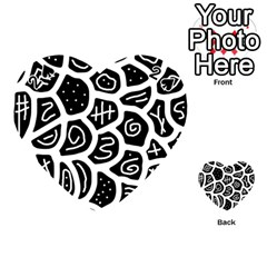 Black And White Playful Design Playing Cards 54 (heart)