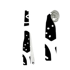 Black And White Playful Design Neckties (one Side)