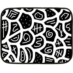 Black and white playful design Double Sided Fleece Blanket (Mini)