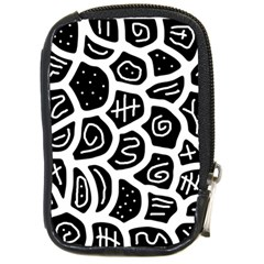 Black and white playful design Compact Camera Cases