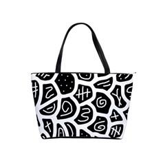 Black and white playful design Shoulder Handbags