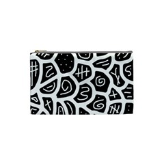 Black and white playful design Cosmetic Bag (Small)