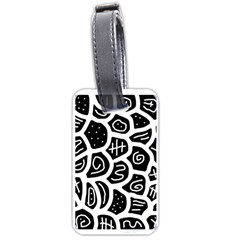 Black and white playful design Luggage Tags (One Side)