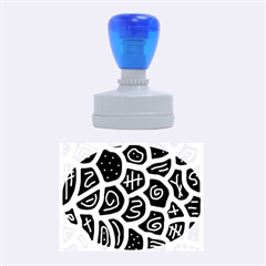 Black And White Playful Design Rubber Oval Stamps
