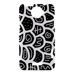 Black and white playful design HTC One X Hardshell Case