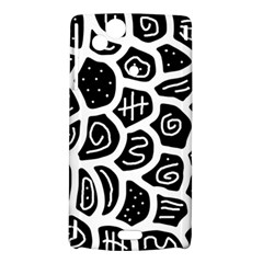 Black and white playful design Sony Xperia Arc