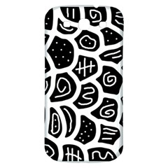 Black and white playful design Samsung Galaxy S3 S III Classic Hardshell Back Case