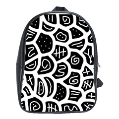 Black and white playful design School Bags (XL)