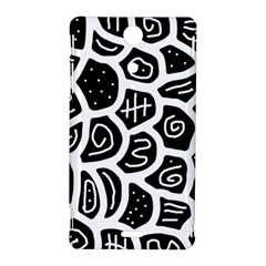 Black and white playful design Sony Xperia TX