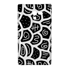 Black and white playful design Sony Xperia ZL (L35H)