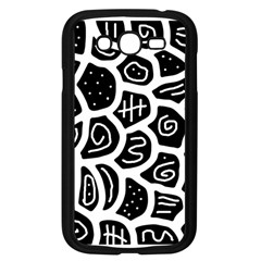 Black and white playful design Samsung Galaxy Grand DUOS I9082 Case (Black)