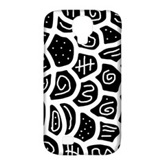 Black and white playful design Samsung Galaxy S4 Classic Hardshell Case (PC+Silicone)