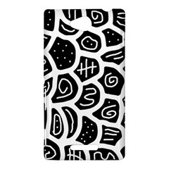Black and white playful design Sony Xperia C (S39H)