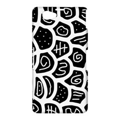 Black and white playful design Sony Xperia Z1 Compact