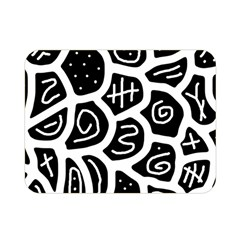 Black and white playful design Double Sided Flano Blanket (Mini)