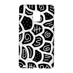 Black and white playful design Galaxy Note Edge
