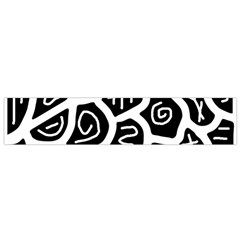 Black and white playful design Flano Scarf (Small)