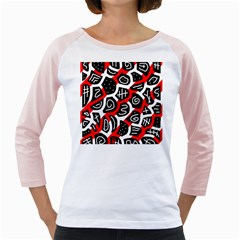 Red playful design Girly Raglans