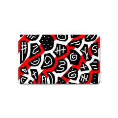 Red playful design Magnet (Name Card)