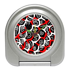 Red playful design Travel Alarm Clocks