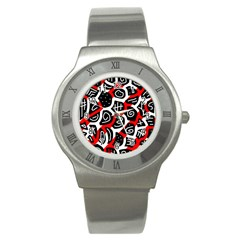 Red playful design Stainless Steel Watch