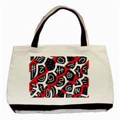 Red playful design Basic Tote Bag