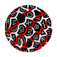 Red playful design Round Ornament (Two Sides)