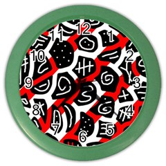 Red playful design Color Wall Clocks