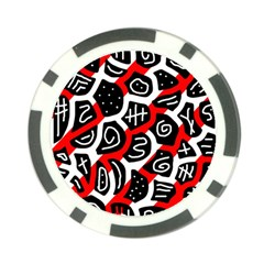 Red playful design Poker Chip Card Guards