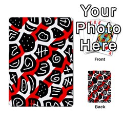 Red playful design Multi-purpose Cards (Rectangle)