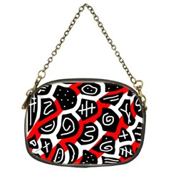 Red playful design Chain Purses (One Side)