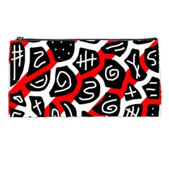 Red playful design Pencil Cases