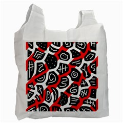 Red Playful Design Recycle Bag (two Side)